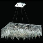 "Maxim Collection 12-Light 28"" Chrome Pendant with Clear  Swarovski Strass Crystal 2033D28C/SS"