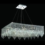 "Maxim Collection 12-Light 32"" Chrome Pendant with Clear  Swarovski Strass Crystal 2033D32C/SS"