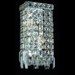 "Maxim Collection 2-Light 6"" Chrome Bathroom Vanity with Clear Swarovski Strass Crystal 2033W6C/SS"