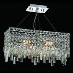 "Maxim Collection 4-Light 10"" Chrome Island Light with Clear  Swarovski Strass Crystal 2035D20C/SS"