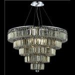 "Maxim Collection 17-Light 30"" Chrome Chandelier with Golden Teak Smoky Swarovski Strass Crystal 2036D30C-GT/SS"