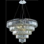 "Maxim Collection 17-Light 30"" Chrome Chandelier with Clear Elegant Cut Crystal 2036D30C/EC"