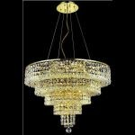 "Maxim Collection 14-Light 26"" Gold Chandelier with Clear  Swarovski Strass Crystal 2037D26G/SS"