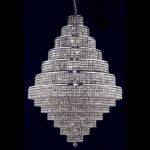 "Maxim Collection 38-Light 42"" Chrome Chandelier with Golden Teak Smoky Royal Cut Crystal 2039G42C-GT/RC"