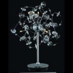 "Iris Collection 6-Light 22"" Chrome Table Lamp with Clear Elegant Cut Crystal 2071TL16C/EC"