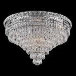 "Tranquil Collection 10-Light 20"" Chrome Flush Mount with Clear  Swarovski Strass Crystal 2526F20C/SS"