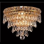 "Tranquil Collection 3-Light 12"" Gold Wall Sconce with Clear  Swarovski Strass Crystal 2526W12G/SS"