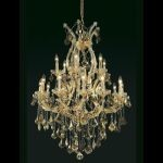 "Maria Theresa Collection 19-Light 32"" Gold Chandelier with Golden Teak Smoky Swarovski Strass Crystal 2800D32G-GT/SS"