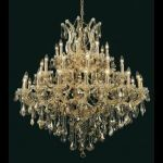 "Maria Theresa Collection 37-Light 44"" Gold Chandelier with Golden Teak Smoky Swarovski Strass Crystal 2800G44G-GT/SS"