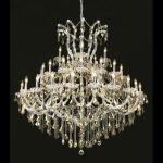 "Maria Theresa Collection 41-Light 52"" Chrome Chandelier with Golden Teak Smoky Swarovski Strass Crystal 2800G52C-GT/SS"