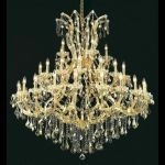 "Maria Theresa Collection 41-Light 52"" Gold Chandelier with Golden Teak Smoky Swarovski Strass Crystal 2800G52G-GT/SS"