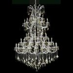 "Maria Theresa Collection 61-Light 54"" Chrome Chandelier with Golden Teak Smoky Royal Cut Crystal 2800G54C-GT/RC"