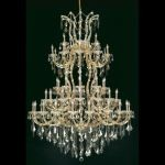 "Maria Theresa Collection 61-Light 54"" Gold Chandelier with Golden Teak Smoky Royal Cut Crystal 2800G54G-GT/RC"