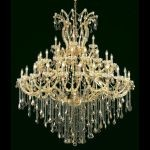 "Maria Theresa Collection 49-Light 60"" Gold Chandelier with Golden Teak Smoky Swarovski Strass Crystal 2800G60G-GT/SS"