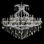 "Maria Theresa Collection 49-Light 72"" Chrome Chandelier with Golden Teak Smoky Swarovski Strass Crystal 2800G72C-GT/SS"