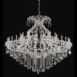 "Maria Theresa Collection 49-Light 72"" Chrome Chandelier with Clear Elegant Cut Crystal 2800G72C/EC"