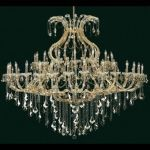 "Maria Theresa Collection 49-Light 72"" Gold Chandelier with Golden Teak Smoky Swarovski Strass Crystal 2800G72G-GT/SS"