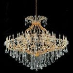 "Maria Theresa Collection 49-Light 72"" Gold Chandelier with Clear Elegant Cut Crystal 2800G72G/EC"