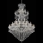 "Maria Theresa Collection 85-Light 72"" Chrome Chandelier with Clear Elegant Cut Crystal 2800G96C/EC"