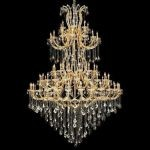 "Maria Theresa Collection 85-Light 72"" Gold Chandelier with Golden Teak Smoky Swarovski Strass Crystal 2800G96G-GT/SS"