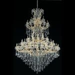 "Maria Theresa Collection 85-Light 72"" Gold Chandelier with Clear Elegant Cut Crystal 2800G96G/EC"