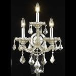"Maria Theresa Collection 3-Light 12"" Golden Teak Wall Sconce with Golden Teak Smoky Royal Cut Crystal 2800W3GT-GT/RC"
