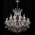 "Maria Theresa Collection 24-Light 36"" Chrome Chandelier with Golden Teak Smoky Swarovski Strass Crystal 2801D36C-GT/SS"