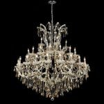 "Maria Theresa Collection 41-Light 52"" Chrome Chandelier with Golden Teak Smoky Swarovski Strass Crystal 2801G52C-GT/SS"