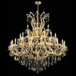 "Maria Theresa Collection 41-Light 52"" Gold Chandelier with Golden Teak Smoky Swarovski Strass Crystal 2801G52G-GT/SS"
