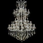 "Maria Theresa Collection 61-Light 54"" Chrome Chandelier with Golden Teak Smoky Swarovski Strass Crystal 2801G54C-GT/SS"