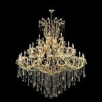 "Maria Theresa Collection 49-Light 60"" Gold Chandelier with Golden Teak Smoky Swarovski Strass Crystal 2801G60G-GT/SS"