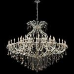"Maria Theresa Collection 49-Light 72"" Chrome Chandelier with Golden Teak Smoky Swarovski Strass Crystal 2801G72C-GT/SS"