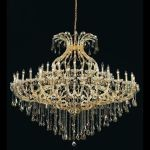 "Maria Theresa Collection 49-Light 72"" Gold Chandelier with Golden Teak Smoky Swarovski Strass Crystal 2801G72G-GT/SS"