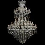 "Maria Theresa Collection 85-Light 72"" Chrome Chandelier with Golden Teak Smoky Swarovski Strass Crystal 2801G96C-GT/SS"
