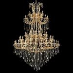 "Maria Theresa Collection 85-Light 72"" Gold Chandelier with Golden Teak Smoky Swarovski Strass Crystal 2801G96G-GT/SS"