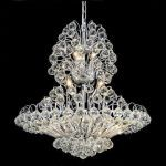 "Sirius Collection 14-Light 24"" Chrome Chandelier with Clear  Swarovski Strass Crystal 2908D24C/SS"