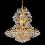"Sirius Collection 14-Light 24"" Gold Chandelier with Clear  Swarovski Strass Crystal 2908D24G/SS"