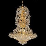 "Sirius Collection 14-Light 28"" Gold Chandelier with Clear  Swarovski Strass Crystal 2908D28G/SS"
