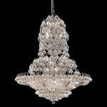 "Sirius Collection 33-Light 36"" Chrome Chandelier with Clear Swarovski Spectra Crystal 2908G36C/SA"
