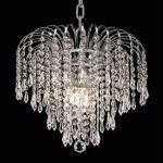 "Falls Collection 4-Light 14"" Chrome Chandelier with Clear  Swarovski Strass Crystal 6801D14C/SS"