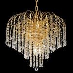 "Falls Collection 6-Light 19"" Gold Chandelier with Clear  Swarovski Strass Crystal 6801D19G/SS"