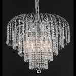 "Falls Collection 6-Light 21"" Chrome Chandelier with Clear  Swarovski Strass Crystal 6801D21C/SS"