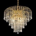 "Falls Collection 6-Light 21"" Gold Chandelier with Clear  Swarovski Strass Crystal 6801D21G/SS"