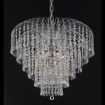 "Falls Collection 6-Light 25"" Chrome Chandelier with Clear  Swarovski Strass Crystal 6801D25C/SS"