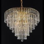 "Falls Collection 6-Light 25"" Gold Chandelier with Clear  Swarovski Strass Crystal 6801D25G/SS"