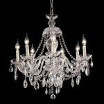 "Alexandria Collection 7-Light 26"" Chrome Chandelier with Clear  Swarovski Strass Crystal 7829D26C/SS"