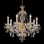"Alexandria Collection 7-Light 26"" Gold Chandelier with Clear  Swarovski Strass Crystal 7829D26G/SS"