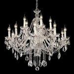 "Alexandria Collection 15-Light 35"" Chrome Chandelier with Clear  Swarovski Strass Crystal 7829G35C/SS"