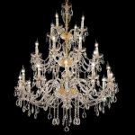 "Alexandria Collection 24-Light 45"" Gold Chandelier with Clear  Swarovski Strass Crystal 7829G45G/SS"