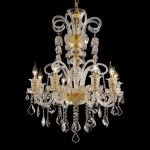 "Elizabeth Collection 8-Light 29"" Gold Chandelier with Clear  Swarovski Strass Crystal 7830D29G/SS"